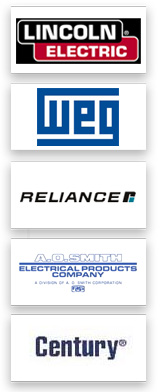 Lincoln Electric, Weg, Reliance, A.O. Smith, Century, Baldor, Leeson, GE, Marathon Electric, Siemens, US Motors, SEW Eurodrive, Fasco, Magnetek, Worldwide Electric Corp.